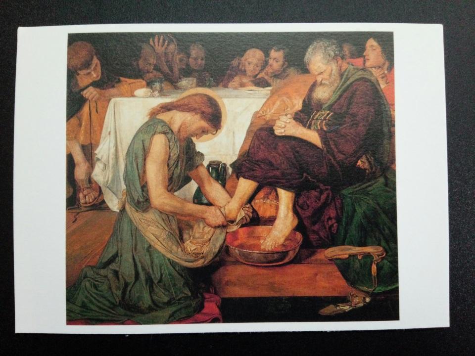 アートカードブック ブラウン「弟子の足を洗うキリスト」