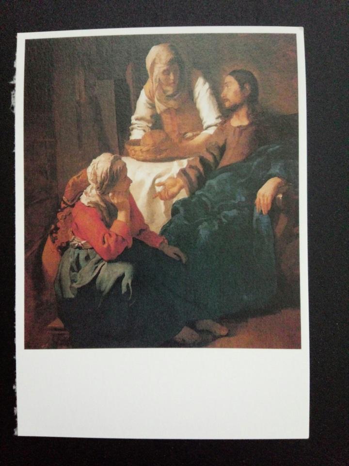 アートカードブック フェルメール「マルタとマリアの家のキリスト」