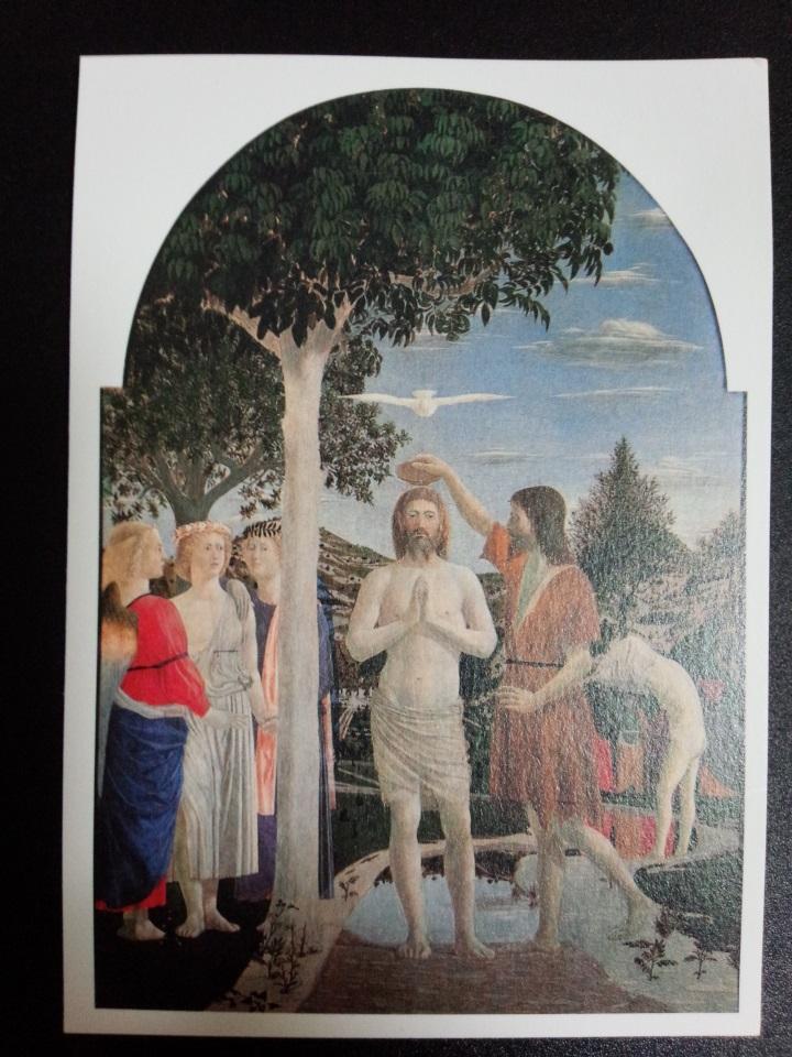 アートカードブック フランチェスカ「キリストの洗礼」